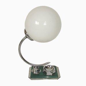 Lampe de Bureau Art Déco en Aluminium et Laiton, 1960s