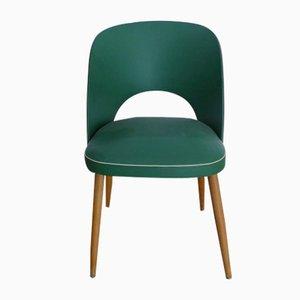 Deutscher Mid-Century Beistellstuhl aus Holz & Kunststoff, 1950er