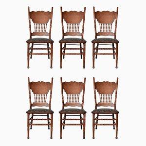 Chaises de Salon Vintage en Frêne, 1920s, Set de 6