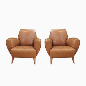 Französische Sessel aus Buchenholz und Metall von Erton, 1950er, 2er Set