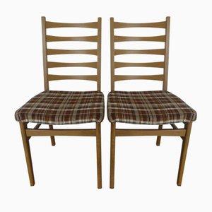 Deutsche Beistellstühle, 1950er, 2er Set