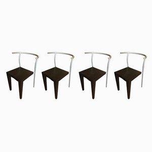 Italienische Dr Glob Chairs aus Kunststoff & Stahl von Philippe Starck für Kartell, 1980er, 4er Set