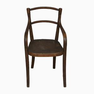 Vintage Bentwood and Wood Childrens Highchair, 1920s
