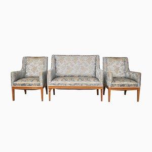 Vintage Set mit Sofa & Stühlen aus Esche, 1930er