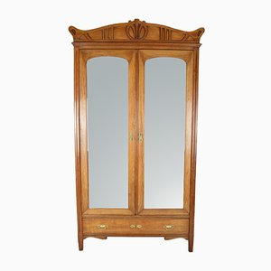 Antique Art Nouveau Wardrobe, 1910s