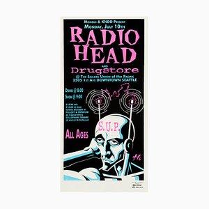 Affiche de Concert Radiohead par Justin Hampton, 1995