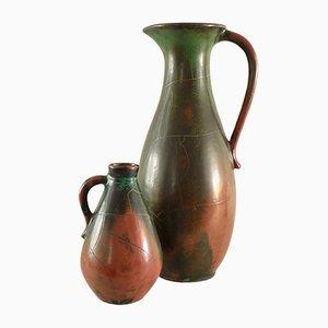 Vases Vintage en Céramique par Paul Dresler pour Grootenburg, Set de 2