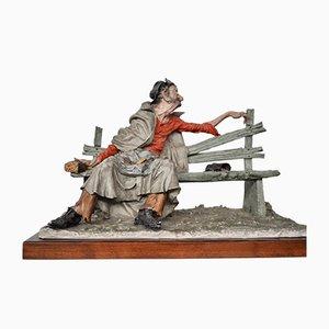 Grande Sculpture en Céramique de Capodimonte