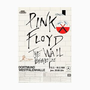 Pink Floyd The Wall Dortmund Concert Poster by Gerald Scarfe, 1981