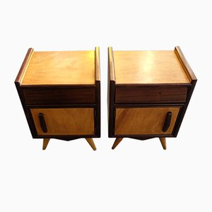 Oak Nightstands from Olaio, 1960s, Set of 2