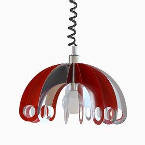 Italian Modern Aluminum and Metal Ceiling Lamp, 1970s