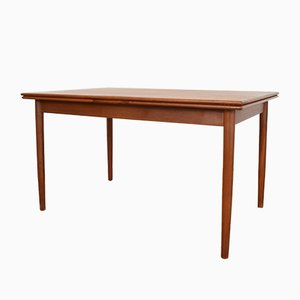 Mid-Century Danish Teak Extendable Dining Table, 1960s