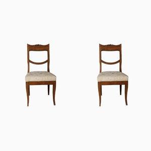 Antike englische Esszimmerstühle aus Kastanie, 18. Jh., 2er Set