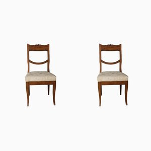 Antique English Chestnut Dining Chairs, 1700s, Set of 2