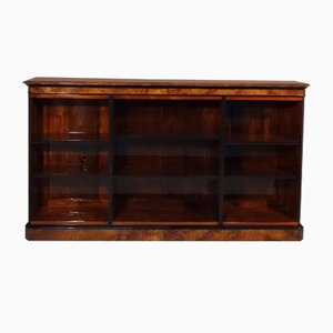 Antique Walnut Veneered Bookcase