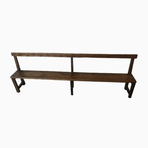 Antique Fir School Bench, 1900s