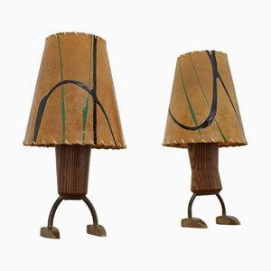 Lampade da tavolo piccole, anni '60, set di 2