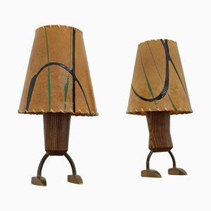 Small Table Lamps, 1960s, Set of 2