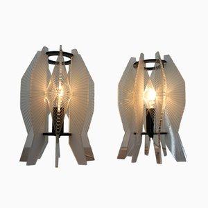 Lampes de Bureau Space Age Vintage en Plexiglas, 1970s, Set de 2