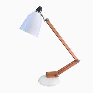 Lampada da tavolo Maclamp in metallo e legno di Terence Conran per Habitat, anni '50