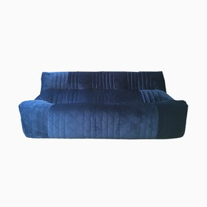 French Velvet Aaralia Sofa by Michel Ducaroy for Ligne Roset, 1980s