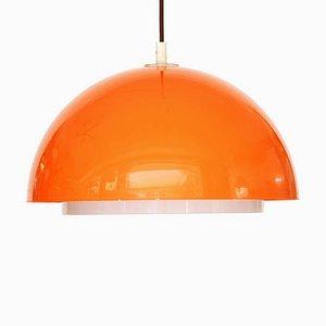 Orangefarbene 3161 Deckenlampe aus Kunststoff von Uno Kristiansson für Luxus, 1970er