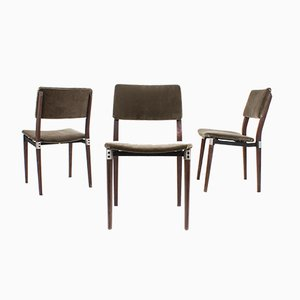 Italian Rosewood Model S82 Dining Chairs by Eugenio Gerli for Tecno, 1960s, Set of 3