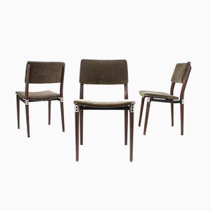 Italienische Modell S82 Esszimmerstühle aus Palisander von Eugenio Gerli für Tecno, 1960er, 3er Set
