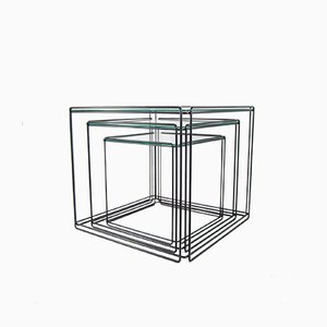 Vintage Isocele Nesting Tables by Max Sauze for Atrow, 1970s