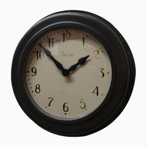 Horloge Antique en Verre et Acier de Brillié, France