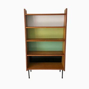 Mid-Century French Iron and Wood Bookcase, 1950s
