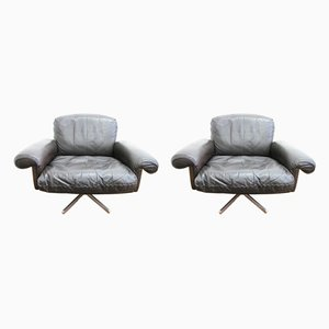 Mid-Century Leather DS 31 Lounge Chairs from de Sede, Set of 2