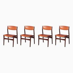 Dänische Esszimmerstühle aus Palisander & Kunstleder von NOVA, 1960er, Set of 4