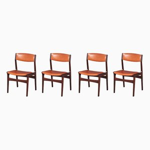 Danish Rosewood & Leatherette Dining Chairs from NOVA, 1960s, Set of 4