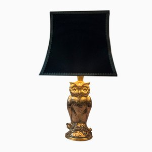 Vintage Brass Owl Table Lamp from Deknudt, 1970s
