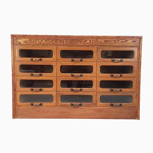 Vintage Industrial Oak Haberdashery Dresser, 1930s