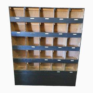 Vintage French Plywood Hardware Storage Unit, 1980s