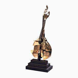 Portugiesische Gitarrenskulptur aus Bronze von Arman, 2000er
