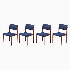 Dänische Esszimmerstühle aus Palisander und Wolle von HW Klein für Bramin, 1960er, 4er Set