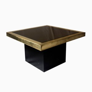 Brass and Compressed Wood Side Table by Roger Vanhevel, 1970s