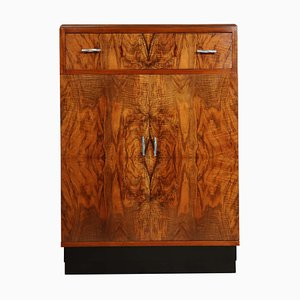 Vintage Art Deco Walnut Cabinet, 1930s