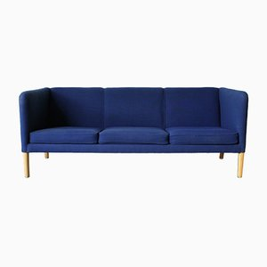 Danish Beech and Wool Sofa by Hans J. Wegner for A.P. Stolen, 1950s