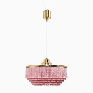 Vintage Pink Silk Fringe Pendant by Hans Agne Jakobsson