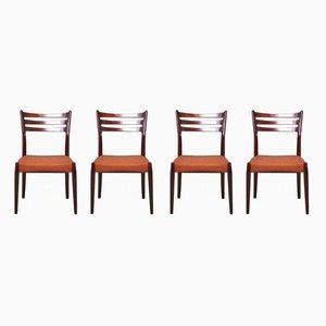 Dänische Esszimmerstühle aus Stoff und Holz von Svend Åge Madsen, 1950er, 6er Set