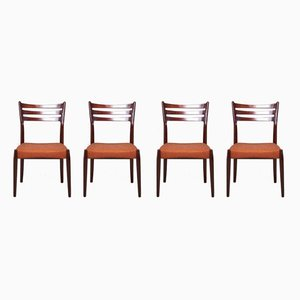 Danish Fabric and Wood Dining Chairs by Svend Åge Madsen, 1950s, Set of 6
