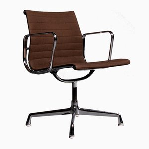 Dark Brown EA108 Armchair by Charles & Ray Eames for Herman Miller, 1970s