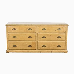Vintage Pine Bank of Drawers, 1940s