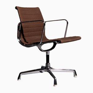 Dunkelbrauner EA108 Armlehnstuhl von Charles & Ray Eames für Herman Miller, 1970er