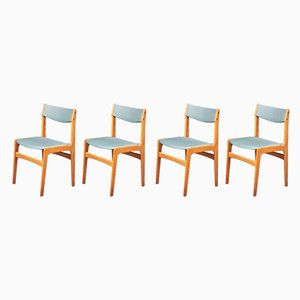 Danish Oak and Wool Dining Chairs, 1960s, Set of 6