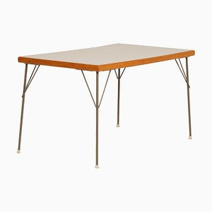Metal and Wood Model 531 Dining Table by Wim Rietveld for Gispen, 1950s